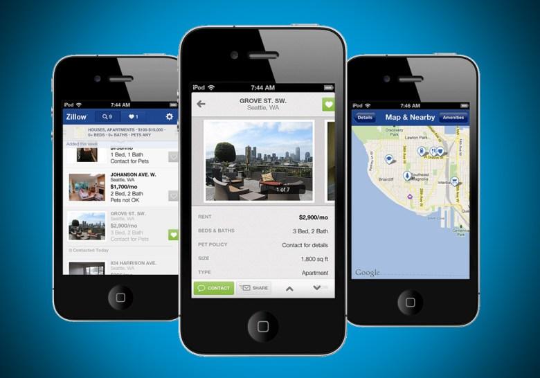 Zillow's iPhone rentals app