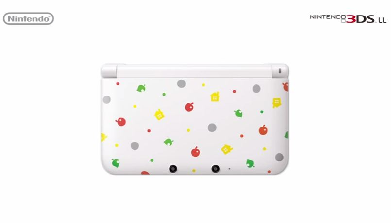 The official Animal Crossing 3DS XL from Nintendo.