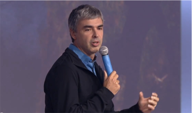 Google chief executive Larry Page made the announcement on his blog