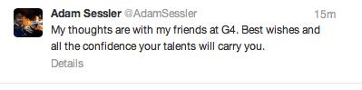 Sessler G4 Tweet