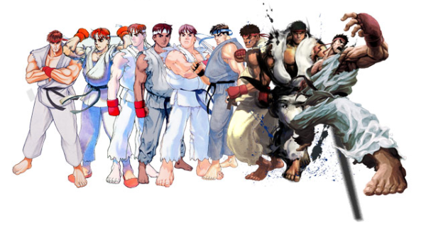 Street Fighter_Ryu_25 years evolution