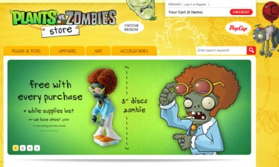 Plants vs. Zombies store screen
