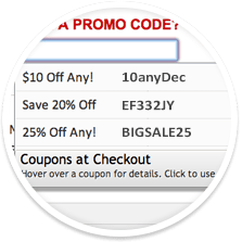 coupons at checkout codes
