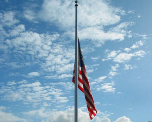 flag half staff small
