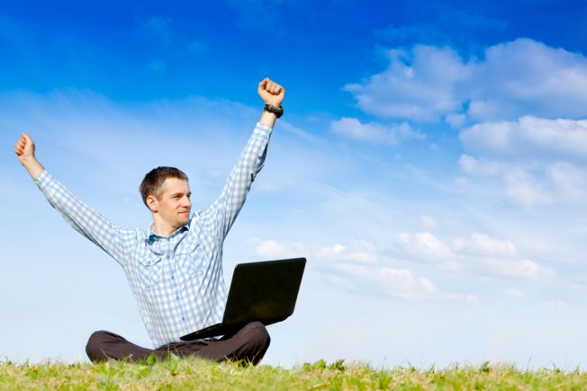 freelancer with laptop