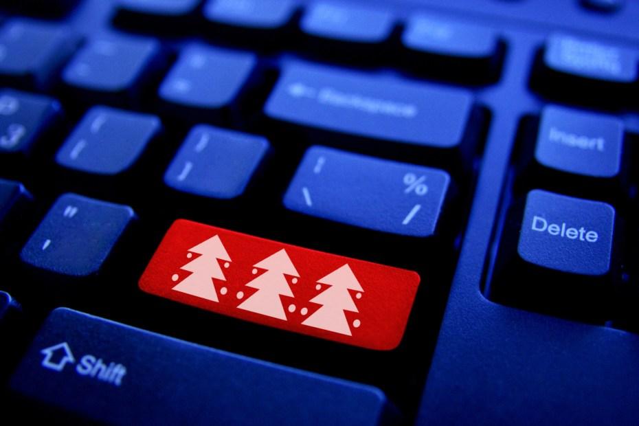 Christmas tree on Computer Key