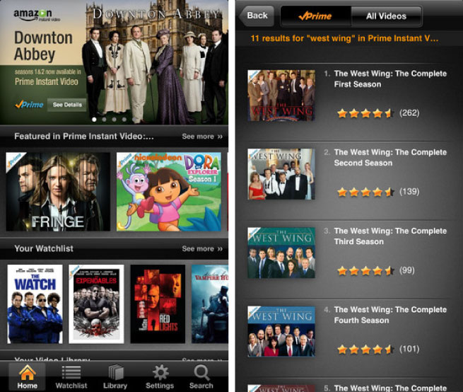 Amazon Prime, iPhone App