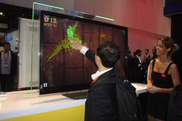 fruit ninja on TCL touchscreen TV
