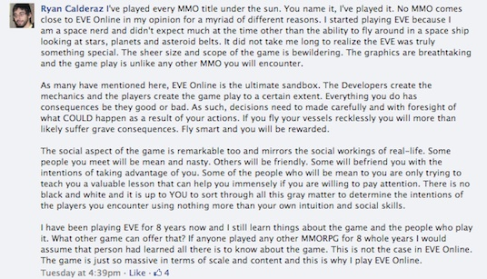GamesBeat Eve Online response 1