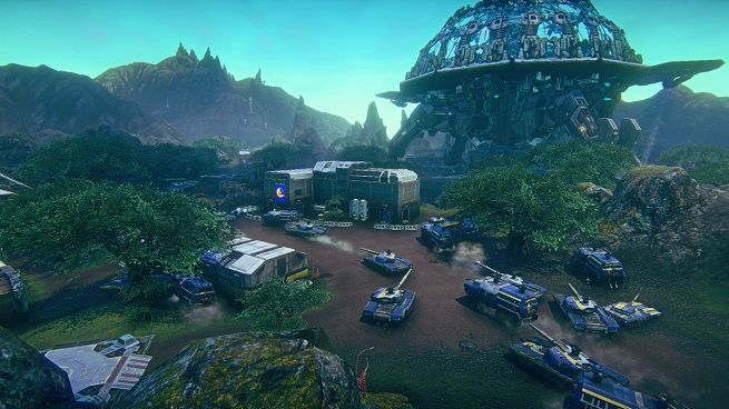 PlanetSide 2 blue base