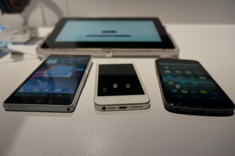 A number of Android and iOS devices.