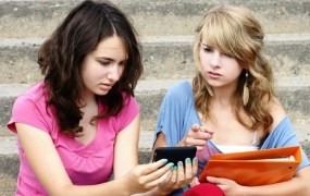 Teens with smartphones