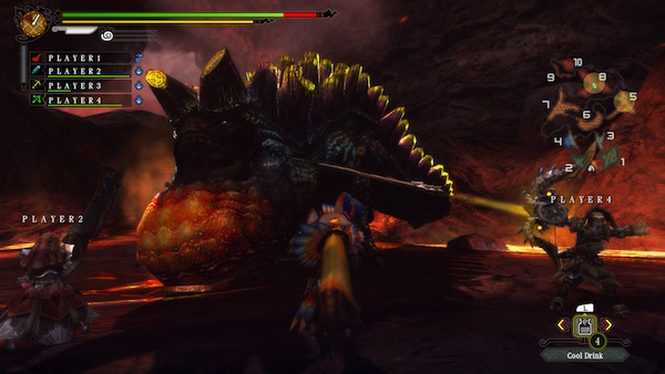 Monster Hunter 3 Ultimate: Volcano fight (Wii U)