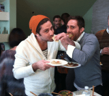 The Rivera brothers doing what they do best -- eating.