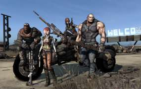 The cast of the original Borderlands.