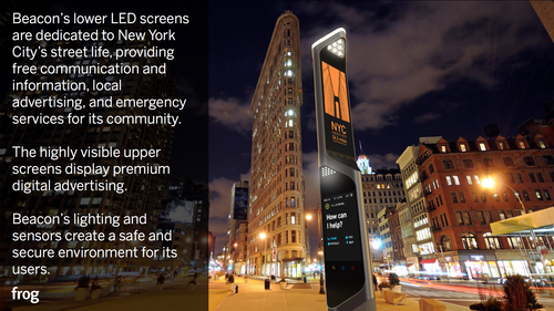 Beacon: NYC's Reinvent Payphones visual design award winner