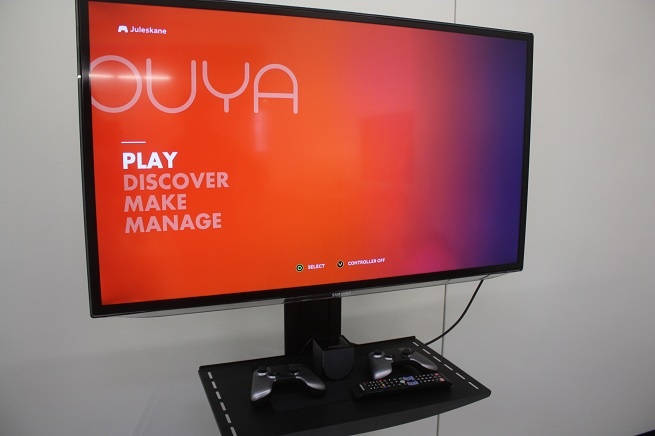The Ouya microconsole's home screen.