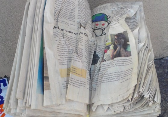 Old newspapers and the Reddit alien