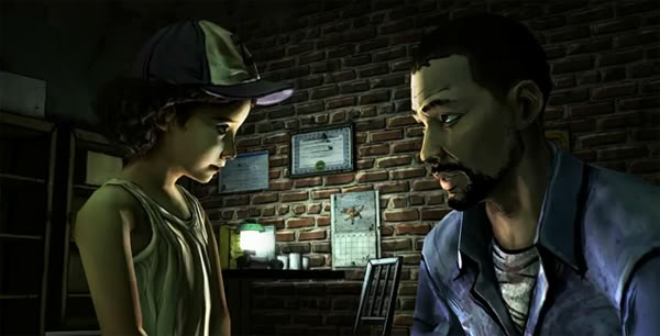 Lee talks to Clementine