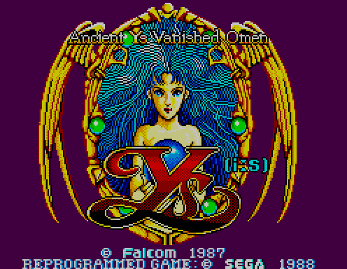 Ys I: Vanished Omen on the Master System