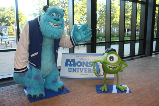 Sully and Mike at Pixar HQ