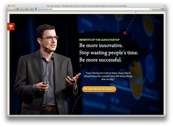 Part of Eric Reis' Lean Startup website