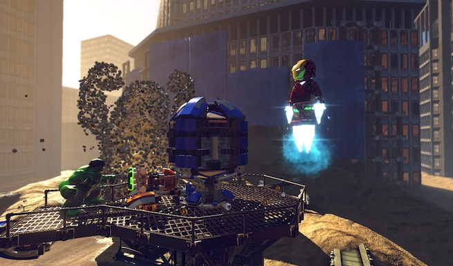 Lego Marvel Super Heroes: Sandman battle 1