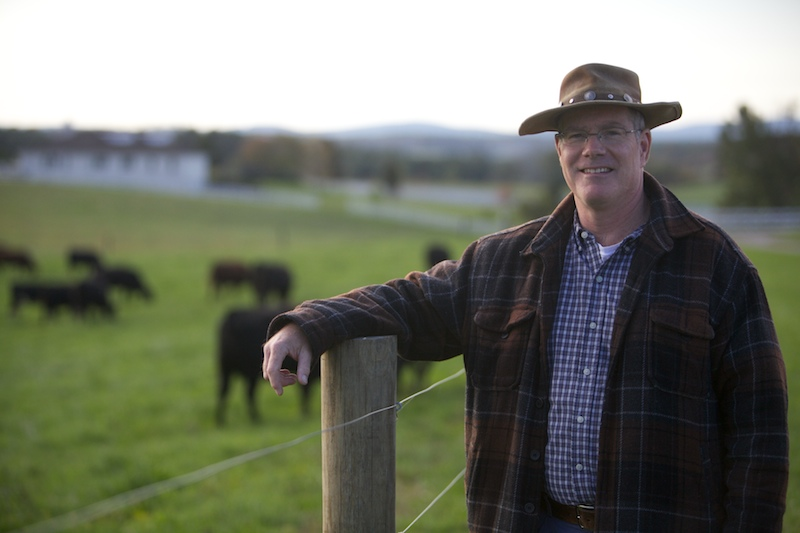John Whiteside of Wolf Creek Farm sells his grass-fed, natural beef on Relay Foods.