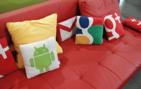 The requisite Google couch.