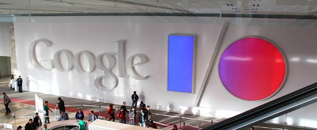 Google banner at Google I/O 2013