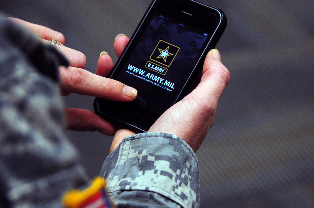 us military iphone