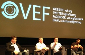 Mike Volker on a panel at VEF (second from left)