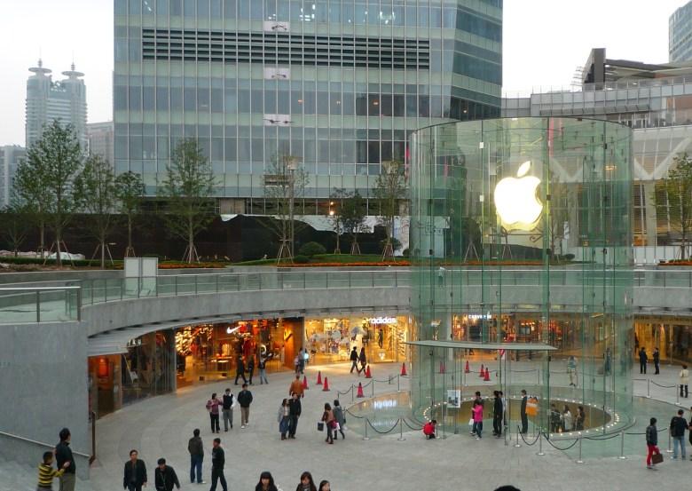 An Apple store in Shanghai