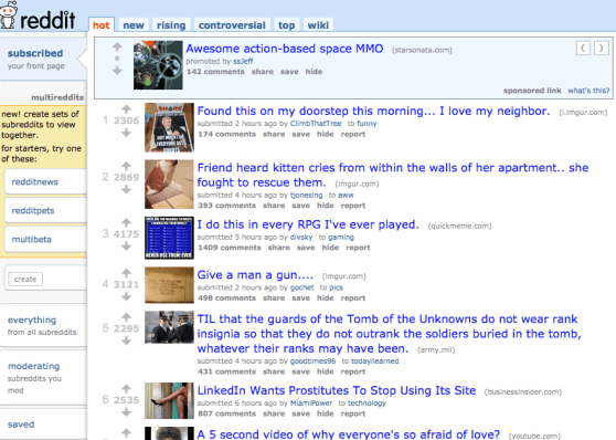 Reddit mutlireddits