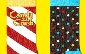 King gets Happy Socks to create Candy Crush Saga socks.