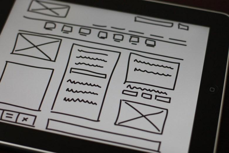wireframe website prototype