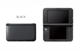 The all-black 3DS XL.