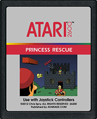 The cover art for the Princess Rescue Atari cartridge.