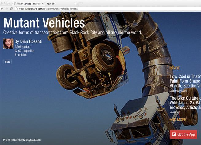 Flipboard's application on the web