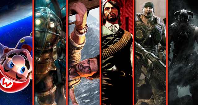 Super Mario Galaxy, BioShock, Uncharted 2, Red Dead Redemption, Gear of War 3, and Skyrim: Which game would you relive?
