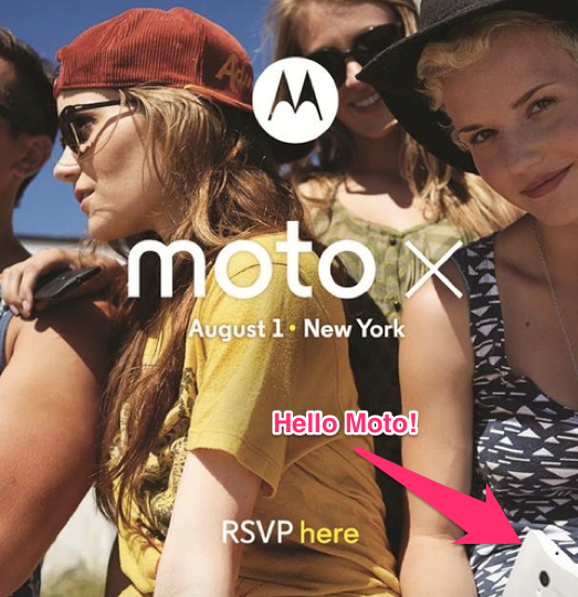Check out the Moto X in the lower right, such a tease.