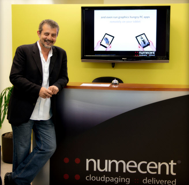 "Osman Kent, the CEO of Numecent, debuting a new ""cloudpaging"" technology."