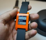 The Pebble smartwatch
