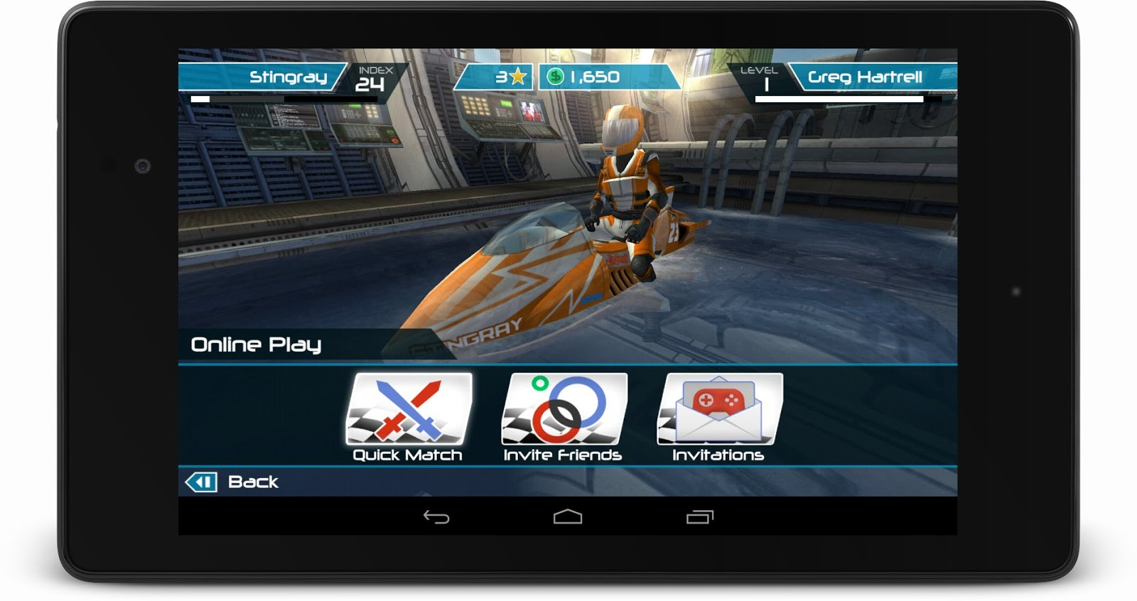 The new Riptide GP2 for Android with integrate Google Play Game Services.