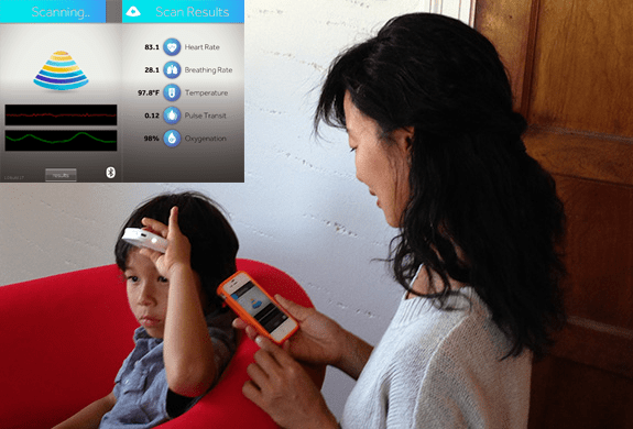 The Scanadu medical scanner works in conjunction with a mobile app.