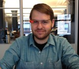 Staff Writer Sean Ludwig testing Google Glass