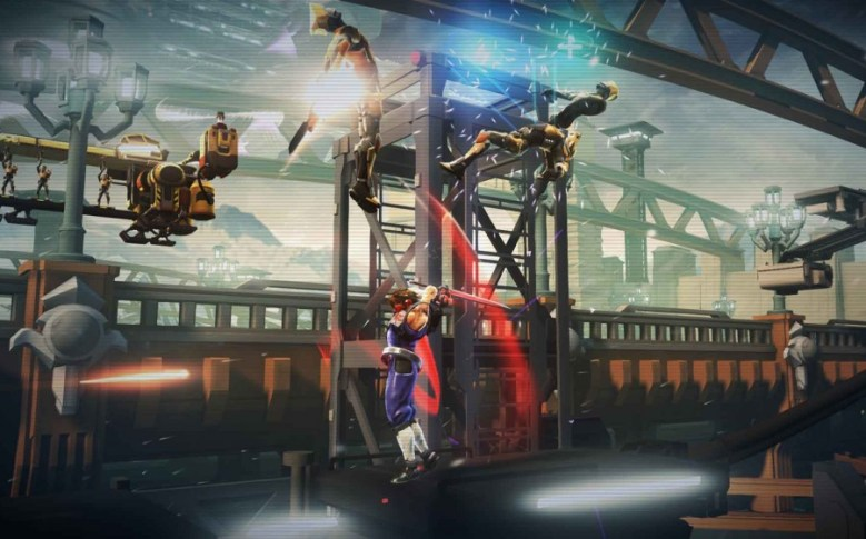 Capcom's new Strider in action.