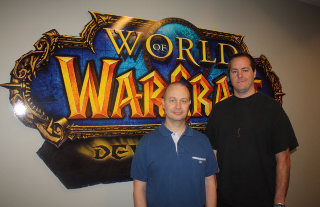 Tom Chilton and J. Allen Brack of WoW.