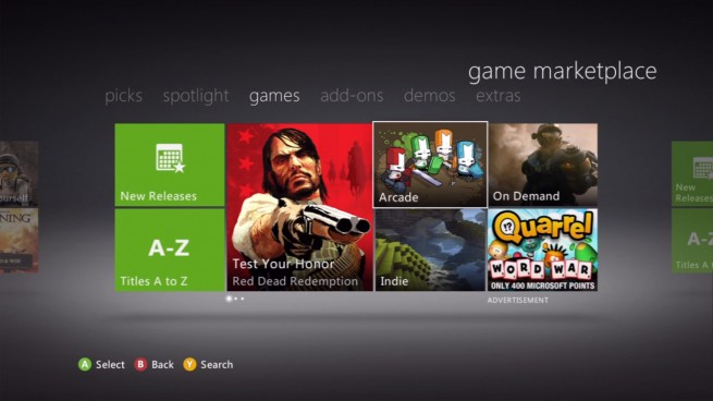 The Xbox Live Game Store.
