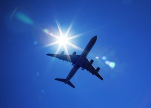 Airplane flying high